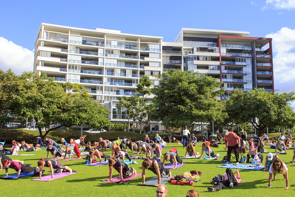 9. International Day of Yoga in Brisbane, Australia