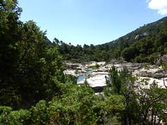 Les vasques du Cavu depuis le sentier du pont de Marion