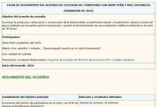 Ficha Seguimiento del Acuerdo de Custodia en 2015