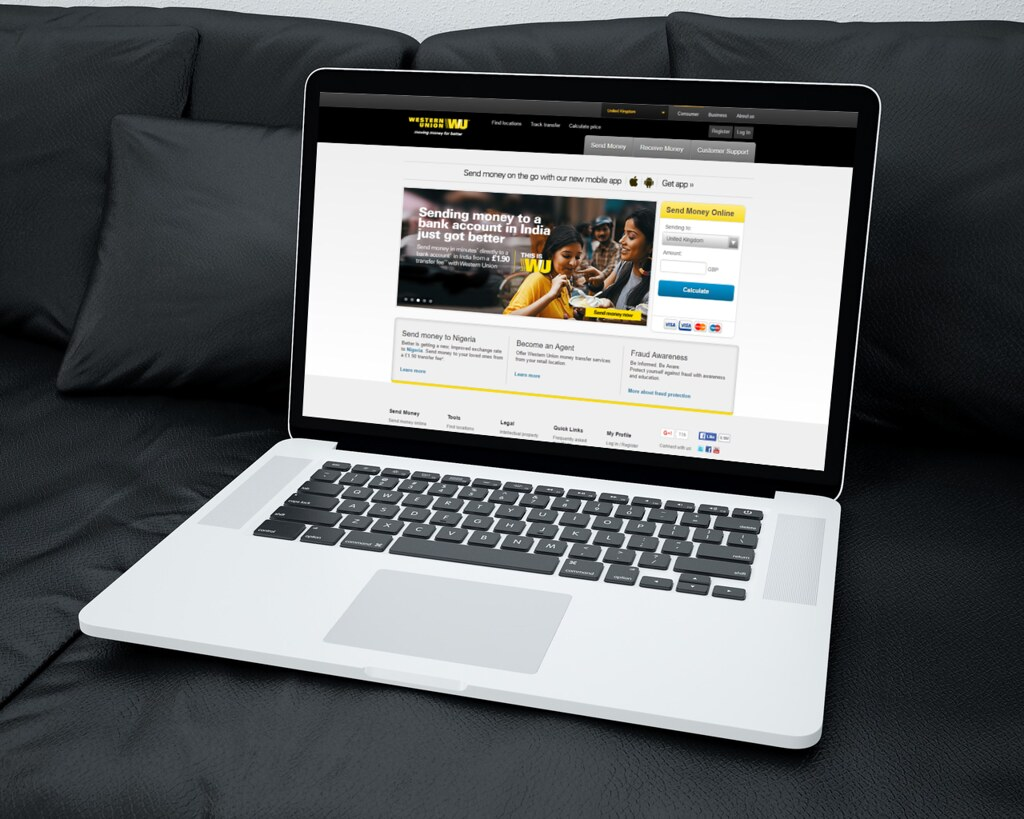 Western Union Website on a Laptop | Pictures of the website … | Flickr