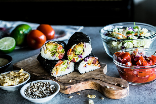 crispy avocado southwest sushi wraps