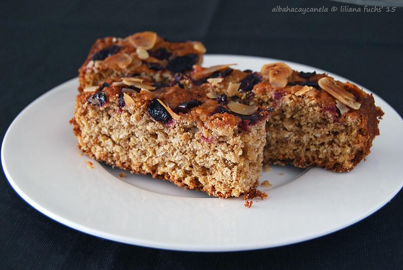 Oat spelt cherry cake