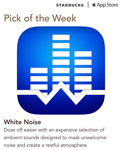 Starbucks iTunes Pick of the Week - White Noise