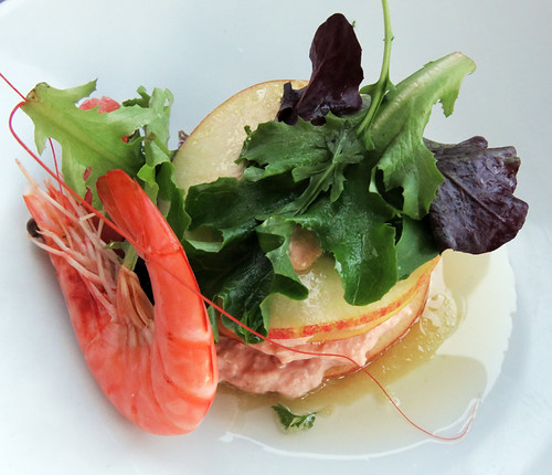 Al's 'Crab Mille Feuilles' at a quai restaurant in Amiens, France