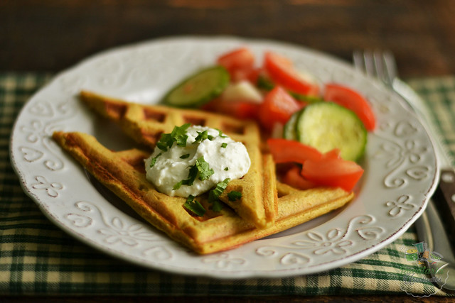 waffles cu branza si morcovi