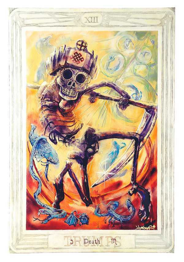 Painting Thoth Tarot Death Card