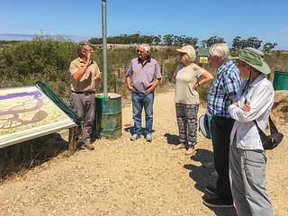 Gruppenführung mit Guide Michael im Grabungsgelände West Coast Fossil Park