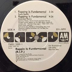 RAPPIN IS FUNDAMENTAL:RAPPING IS FUNDAMENTAL(LABEL SIDE-A)