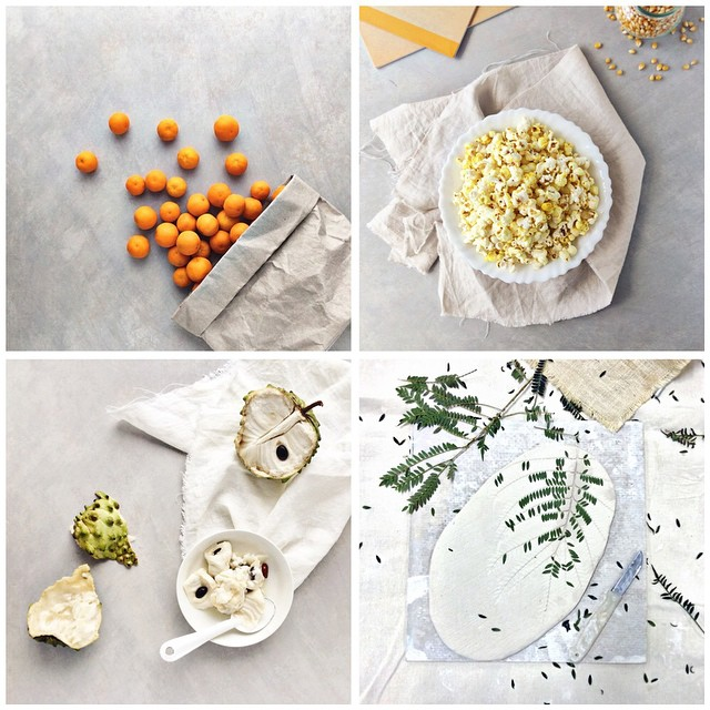 A quick collage before May runs out the door of my @cookrepublic #tastyvignettes collection for the month... F O R A G E • Y E L L O W • T E X T U R E • P L A T E