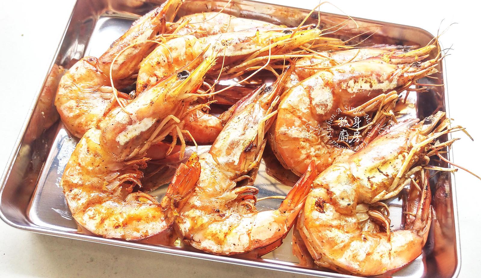 孤身廚房-墨西哥烤紅爐蝦酪梨芒果莎莎醬塔可(下)-烤紅爐蝦酪梨芒果莎莎醬7