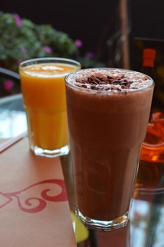 Frozen de mango, smoothie choco power
