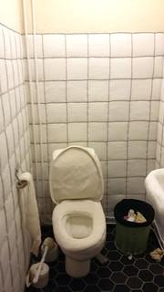 Virkattu wc. Liisa Hietasen työ Vapaa - Vacant, Sinkka, Kerava.