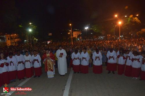 Padre Lucas celebra 9º dia da  trezena de São Sebastião e se despede da Paróquia de Ipu