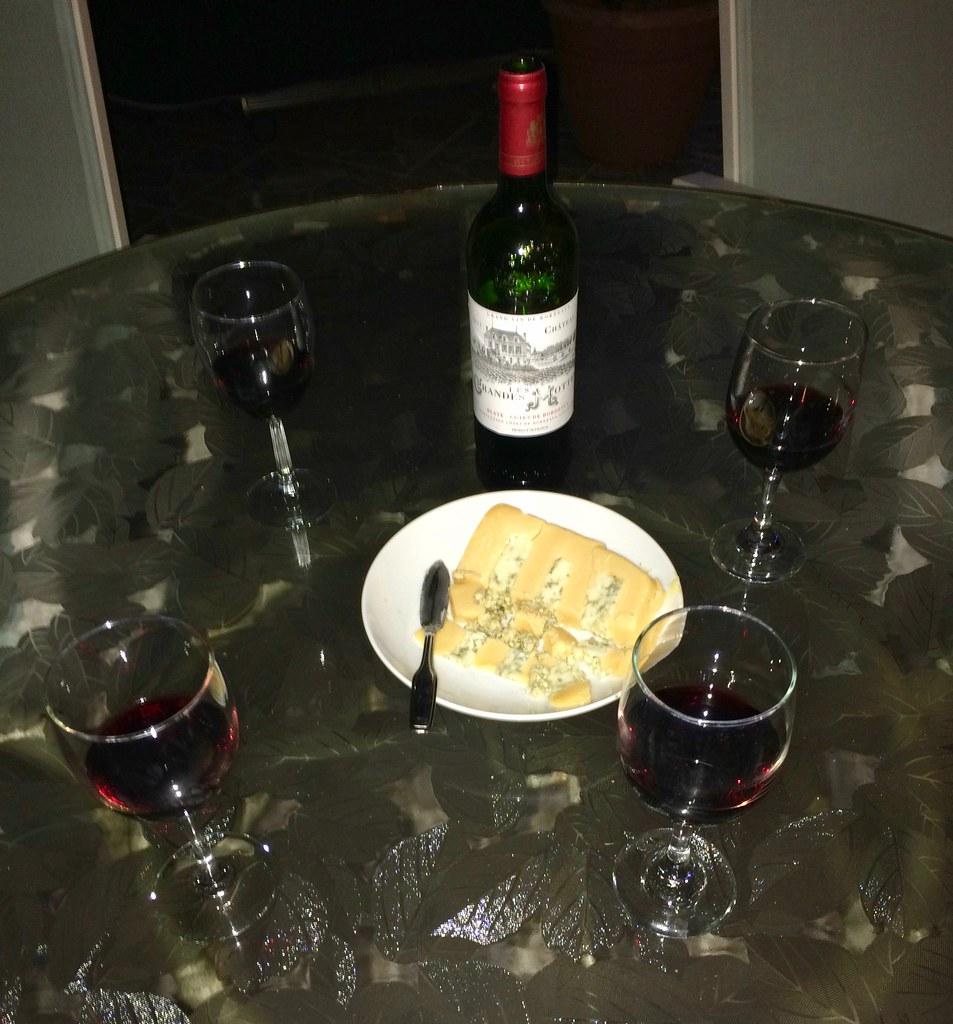 Château Les Grandes Mottes Bordeaux and Huntsman Cheese 2