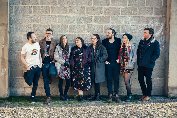Pub Corner Poets, with Resident Writer Josh Overton (third from the right) © James Mulkeen