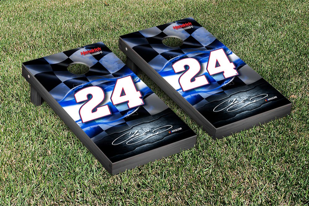 CHASE ELLIOT #24 CORNHOLE GAME SET NIGHT LIGHTS VERSION (1)