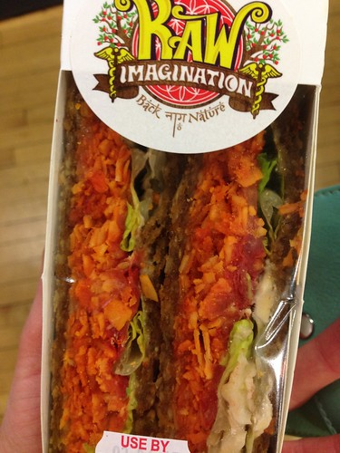 Raw vegan blt sandwich from planet organic