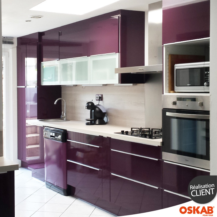 avis photos oskab emilie m cuisine quip e aubergine. Black Bedroom Furniture Sets. Home Design Ideas