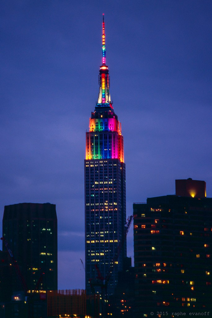 empire state building with rainbow lights for gay pride 20 flickr. Black Bedroom Furniture Sets. Home Design Ideas