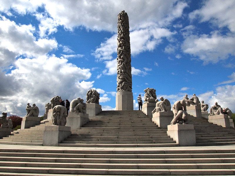 The Vigeland Park in Oslo, Norway