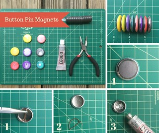 button pin magnets | by fancygreenfringe
