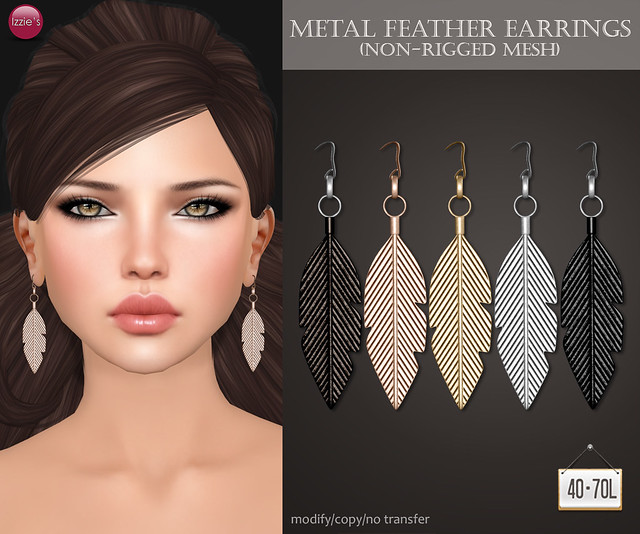 TDRF (Metal Feather Earrings)