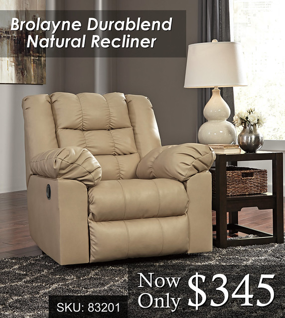 Brolayne Natural Recliner