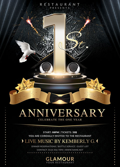 Anniversary Flyer Template | By BriellDesign Anniversary Flyer Template |  By BriellDesign