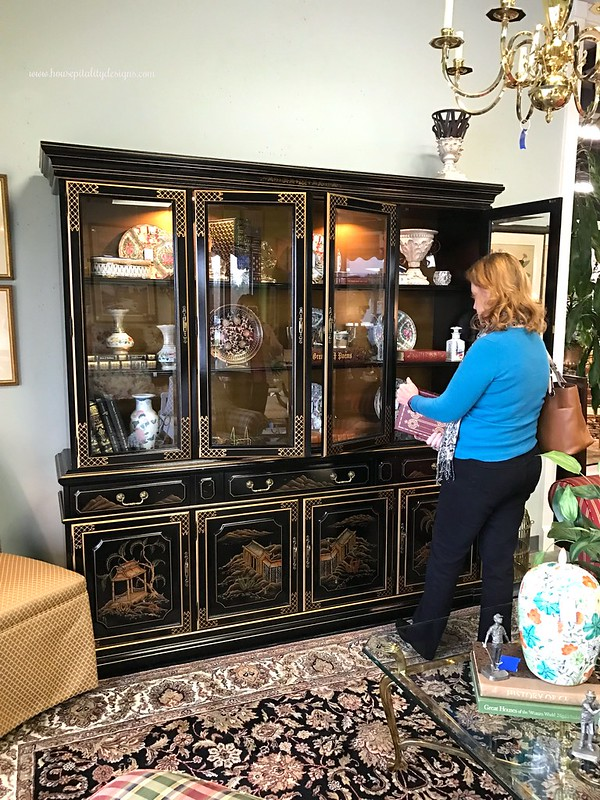 Consignment Shop-Chinoiserie Breakfront-Housepitality Designs