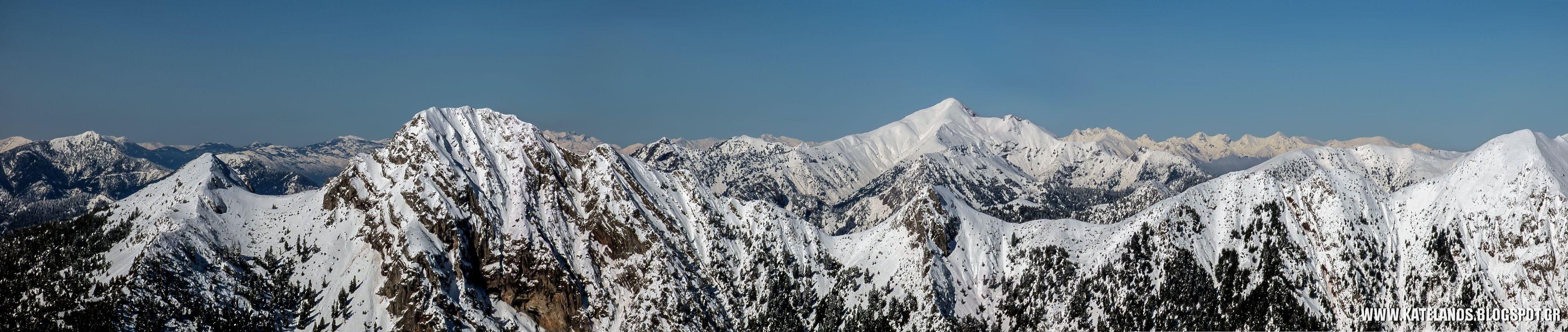χιονισμενα βουνα νοτια πινδος βουνοκορφες παναιτωλικο ορος