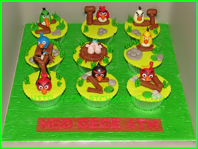 cupcake set Angry Birds