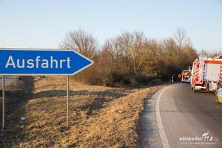 Verkehrsunfall A671 Hochheim-Nord 26.01.17