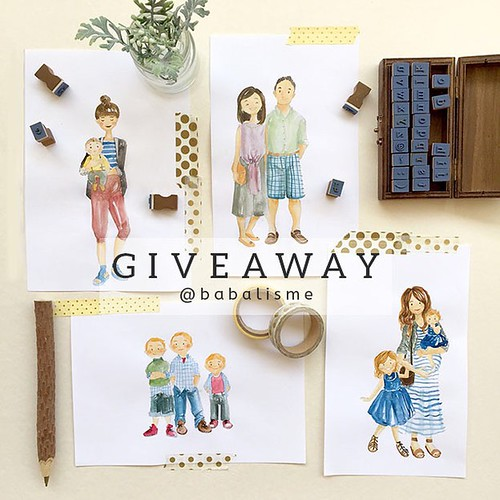 Giveaway time!!! Win 1 (one) custom portrait of you or your family (maximum of four persons)!!! The winner will have to email me his/her choice of portrait. I will illustrate and the winner will receive a soft copy of my illustration, send via email.  TO | by babalisme