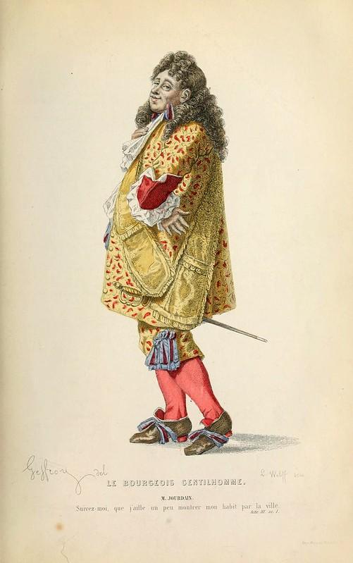 016- El caballero burgues -Oeuvres completes ornee de portraits en pied colories…1871- Moliere