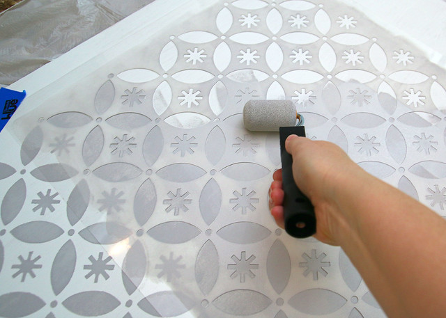 Holiday Stencil Gray Paint