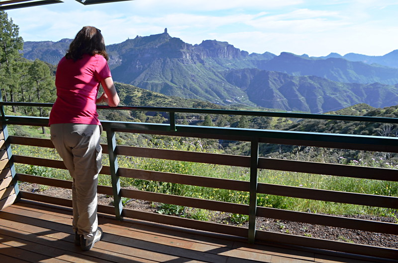 View from the balcony, Parador Cruz de Tejeda, Gran Canaria