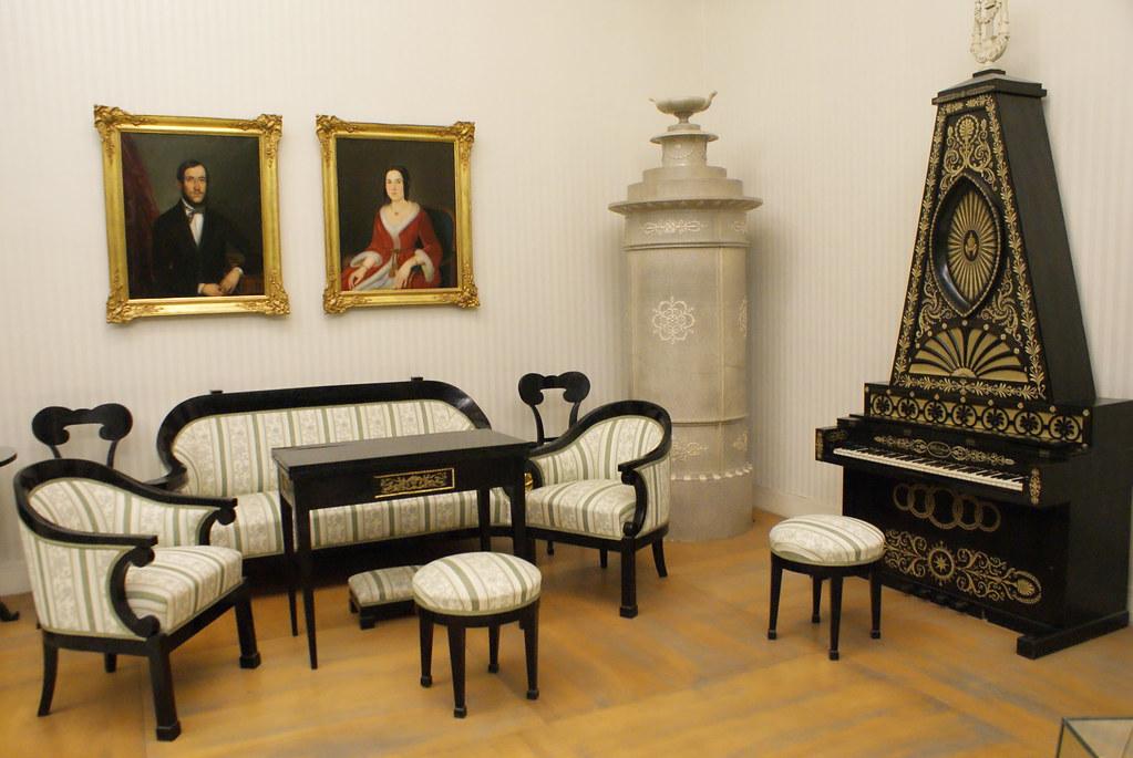 Exemple d'intérieur du 19e siècle au Musée National à Budapest.