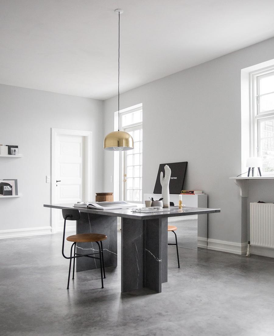 Custom marble desk | AMM blog
