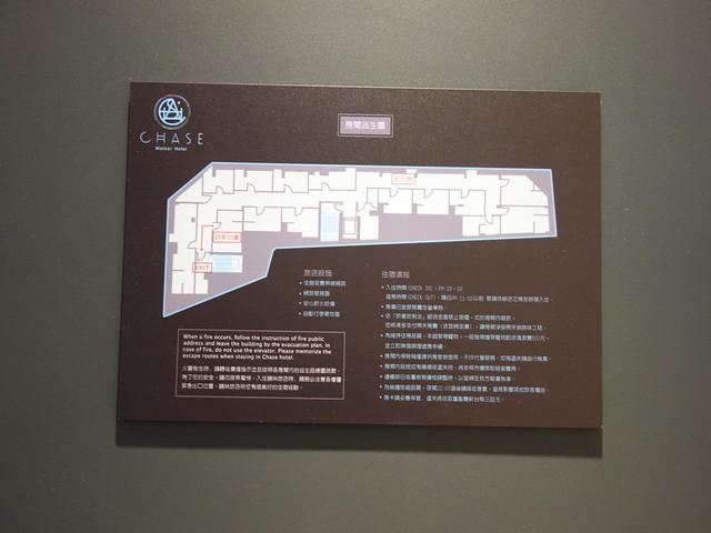 逃生路線圖@台中鵲絲旅店