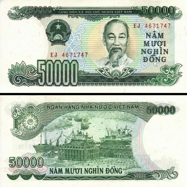 50 000 Dong Vietnam 1993, P116a