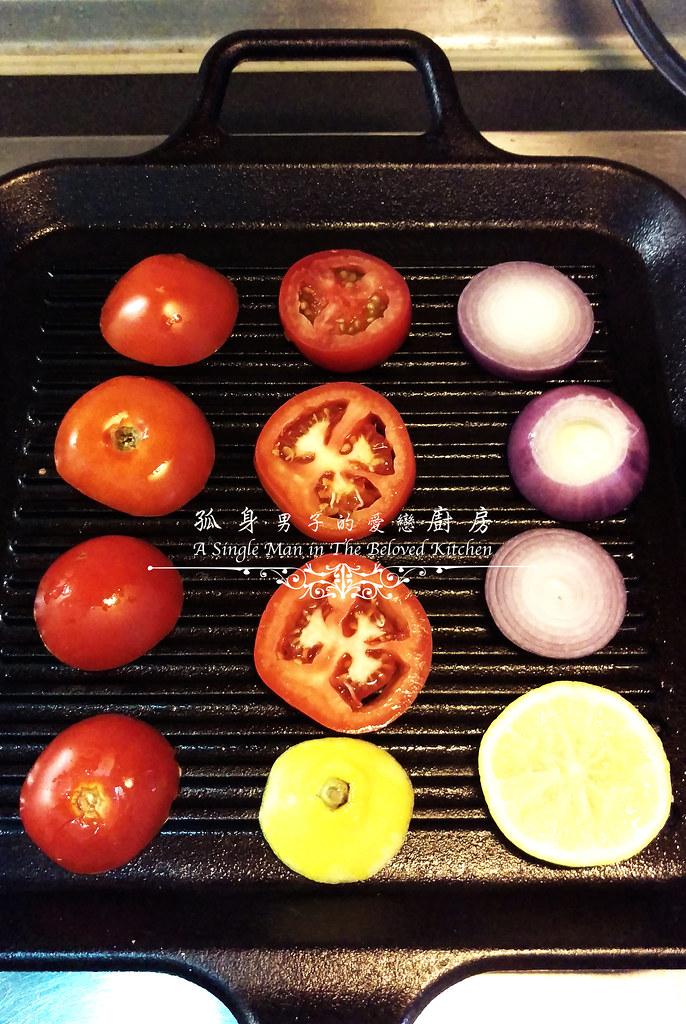 孤身廚房-地中海風味烤黑喉魚佐鑄鐵烤盤烤蔬菜7