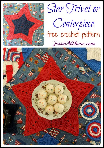 Star Trivet or Centerpiece ~ Free Crochet Pattern by Jessie At Home