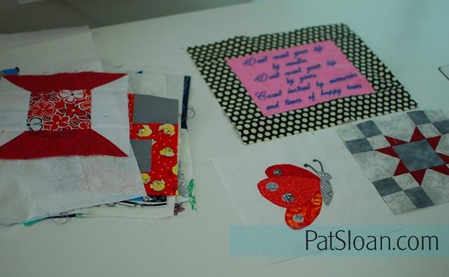 pat sloan birthday block quilt back making5