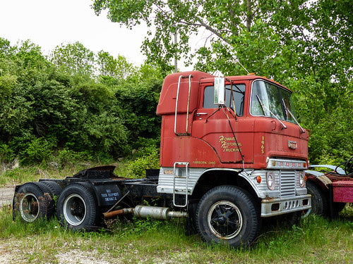 1965 White 4000 Semi Tractor : Howard historical trucking s rusty ford coe semi