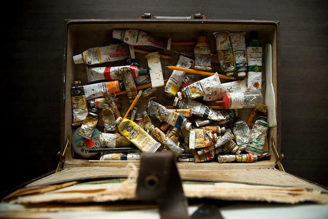 Vintage Art Briefcase