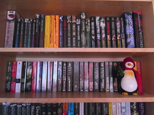 Charlaine Harris and Jennifer Estep shelf