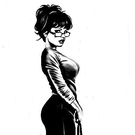 Pencil drawings of sexy women