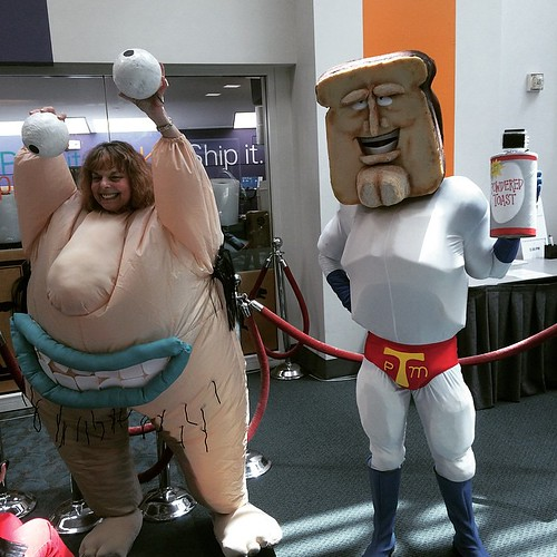 San Diego Comic-Con 2015 Cosplay - Aaahh Real Monsters!!! Krumm & Powdered Toast Man