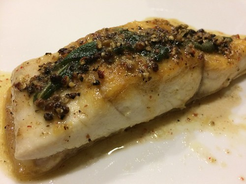 Five Peppercorn Halibut