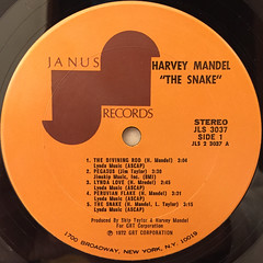 HARVEY MANDEL:THE SNAKE(LABEL SIDE-A)